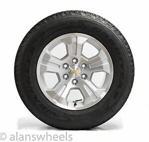 Four New Chevy Silverado Avalanche Z71 18 Wheels Rims Fortitude Tires Lug Nuts