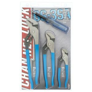 3 Pc Tongue And Groove Plier Set Chags 3sa Brand New