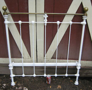 Antique Architectural Garden Salvage Cast Iron Brass Bed Head Board Fence Gate