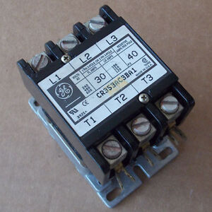Ge Cr353ac3ba1 Magnetic Contactor 3 Pole 30 Amp 120v Coil Used