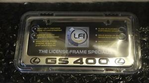 new Lexus Chrome Lfi Gs400 Engraved License Plate Frame Fits All Years