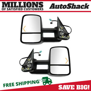Power Heated Tow Led Signal Side Mirror Pair For 2003 2006 Sierra Silverado 1500