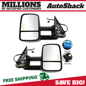 Power Heated Led Signal Tow Side View Mirror Pair For 03 06 Chevy Silverado 1500