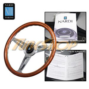 Italy Nardi Classic 390mm Steering Wheel Mahogany Wood With Polished Spoke