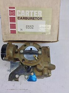 Nos Carter Yf Carburetor 6552s 1970 1971 Amerian Motors 232 258 Engine