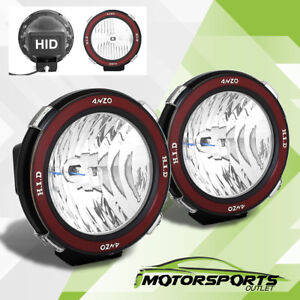 Pair Universal 7 Inches Built In 6000k Hid 4x4 Offroad Fog Lights For Suv Truck