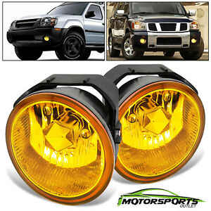For 2001 2004 Nissan Frontier 02 04 Xterra Yellow Fog Lights Wiring Kits