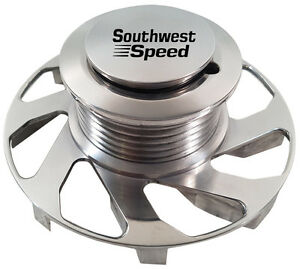 New Sws Gm Polished Billet Alternator Pulley With Fan 6 rib Serpentine ac Delco