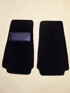 Fiat 124 Spider 66 82 Black Cut Pile 2 Piece Protector Mat With Nib Backing
