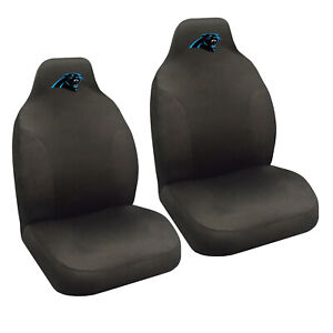 New Nfl Carolina Panthers 2 Front Universal Fit Car Truck Bucket Seat Covers