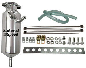 New Universal Polished Radiator Expansion Tank Kit With Cap multi Inlets round
