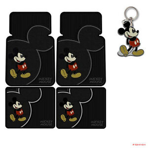 New Disney Mickey Mouse Classic Car Truck Rubber Floor Mats Front Rear