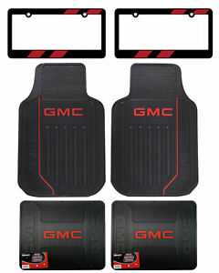 New Gmc Car Truck Suv Red Factory Logo Front Rear Back Rubber Floor Mats