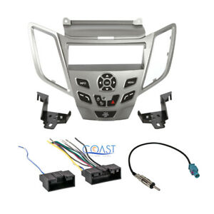 Metra Car Radio Stereo Silver Dash Kit Harness Antenna For 2011 up Ford Fiesta
