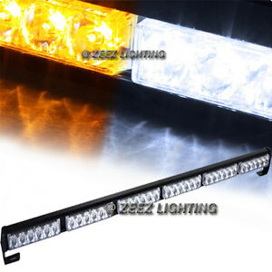 36 Amber white Led Traffic Advisor Emergency Warning Flash Strobe Light Bar C00
