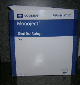 10cc Monoject Oral Syringes10ml Non sterile New Syringe 2 Tablespoon 100 Pack