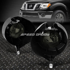For 05 15 Nissan Frontier W chrome Bumper Smoked Lens Oe Driving Fog Light Lamp