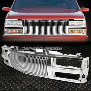 For 94 00 Chevy C10 C K Tahoe Blazer Chrome Verticle Front Bumper Grille Guard