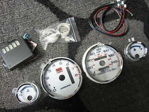 94 01 Acura Integra Automatic Ls Rs Gs 7 Color Cluster Led Glow Gauges 8k Rpm