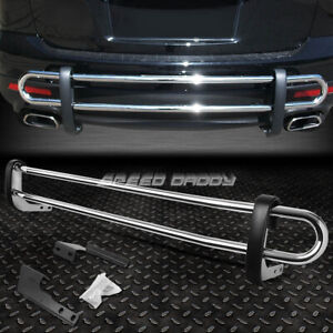 For 01 08 Pilot mdx 14 Ridgeline Stainless Dual bar Rear Bumper Protector Guard