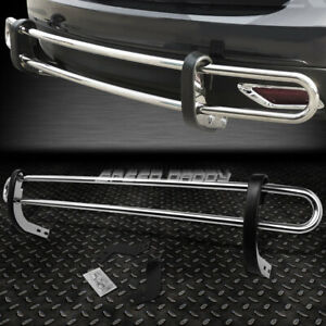 For 11 16 Toyota Sienna Stainless Steel Double Bar Rear Bumper Protector Guard