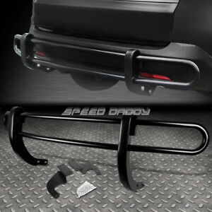 For 07 13 Acura Mdx Yd2 Suv Black Coated Double Bar Rear Bumper Protector Guard