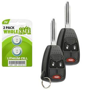 2 Replacement For 2006 2007 2008 2009 2010 Chrysler Pt Cruiser Key Fob Remote