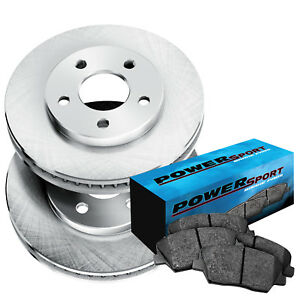 Front Powersport Replacement Brake Rotors And Ceramic Pads 2012 2016 Ford Focus