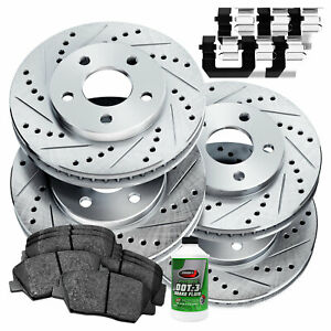 Full Kit Cross drilled Slotted Brake Rotors And Ceramic Brake Pads Blcc 44160 02