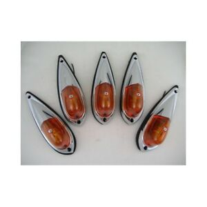 5 Amber Cab Roof Rv Truck Semi Clearance Marker Lights