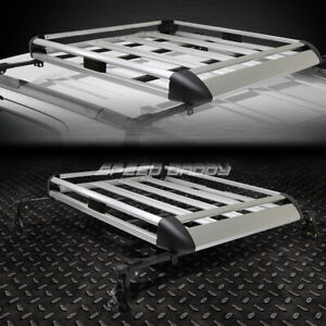 50 X 31 Aluminum Roof Rack Car Suv Top Cargo Luggage Bag Carrier Basket Crossbar