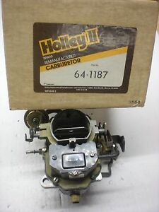 Holley Reman Carter Bbd Carburetor 1977 Chrysler Dodge Plymouth 318 Engine