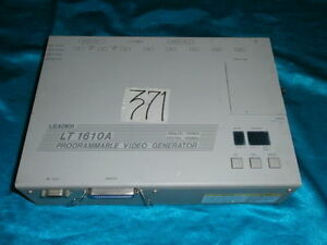 Leader Lt 1610a Lt1610a Programmable Video Generator