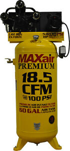Maxair C5160v1 map 5hp 60 Gallon 18 5 Cfm single Stage Air Compressor