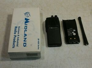 Nos Midland Legacy Sp 430 2 way Radiovhf Fm w battery And Antenna No Charger