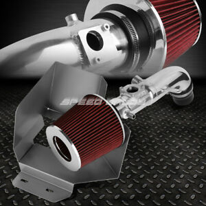 For 02 06 Toyota Camry I4 2 4 Aluminum 4 Cold Air Intake Red Filter Heat Shield