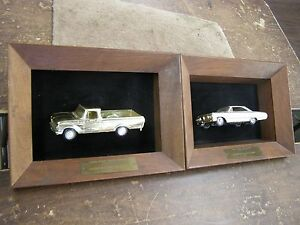 Oem Ford Dealers 1964 Galaxie Car 1966 Truck Sales Awards Promo Cars Gold