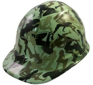 Water Dipped Cap Style Hard Hat Ratchet Liner Bootie Girl Light Green Print