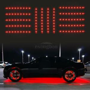 14pc Red Car Truck Underglow Under Body Neon Accent Glow Led Lights 12 Strip
