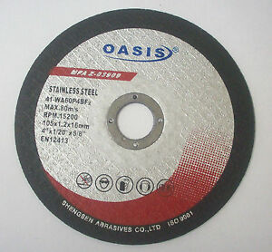 300 4 Right Angle Grinder Stainless Steel Metal Cutting Cut Off Wheel Discs