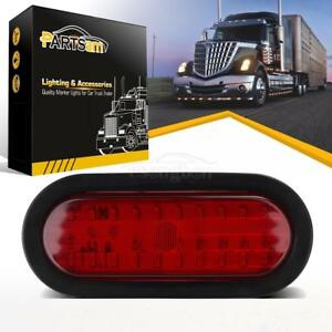 Submersible 6 Oval Red Stop Turn Tail Brake Light 30led W Grommet Mount Utility