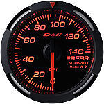 Defi Red Racer Series Oil Water Pressure Gauge Df06602