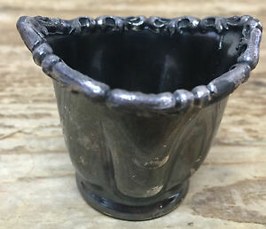 Silverplate Toothpick Rare Eye Wash Cup Barbour Silver Co Quadruple 2182 Old