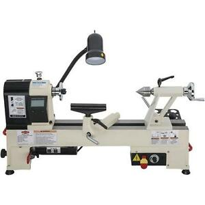 Shop Fox W1836k 12 X 15 Variable Speed Benchtop Wood Lathe W Stand Chisels