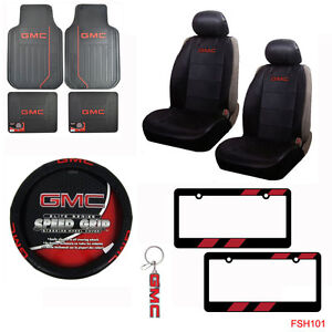 Gmc Elite Car Truck Seat Covers Floor Mats Steering Wheel Cover Keychain