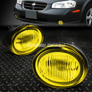 For 2002 2003 Nissan Maxima Amber Lens Front Bumper Driving Fog Light Lamp Pair