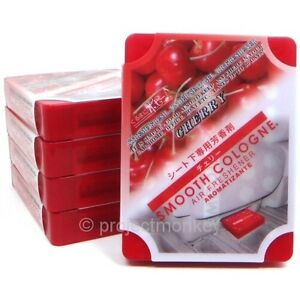 Smooth Cologne Air Freshener Cherry X 5 Automotive Car Fragrance Scent Aroma Jdm