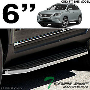 6 Hd Aluminum Blk chrome Side Step Rail Running Boards Vp For 2010 Lexus Rx350