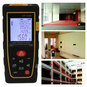 100m 328ft Digital Lcd Laser Distance Meter Range Finder Measure Diastimeter