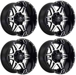 Tis 538mb 8908118 Set Of 4 18x9 Gloss Black W Mirror Machined Face 538mb Wheels